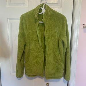 Lands End Green ZipUp Fleece